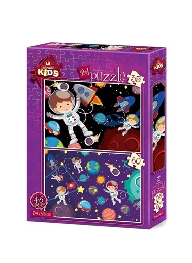 Art Puzzle Art Puzzle Uzay 35+60 Parça Kutu Puzzle  Renksiz